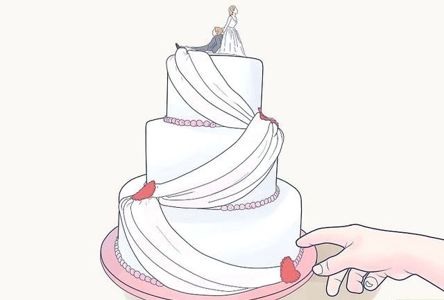 कट आपका वेडिंग केक कदम शीर्षक चित्र