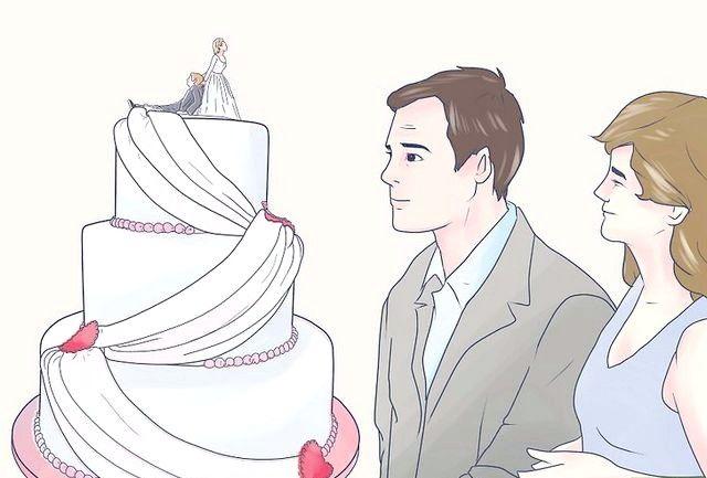 कट आपका वेडिंग केक कदम शीर्षक से छवि कदम 5