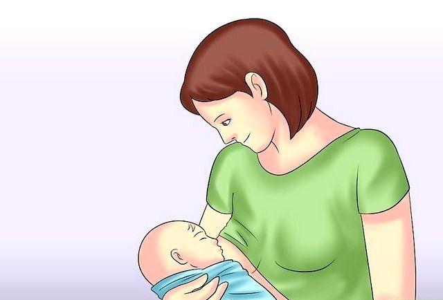 क्रैड होल्ड ए बेबी चरण 10 नामक छवि