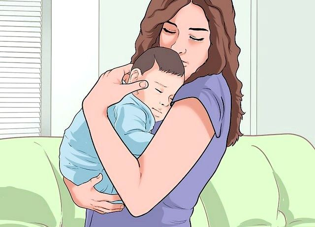 छवि शीर्षक से एक बेबी चरण 3 रखें