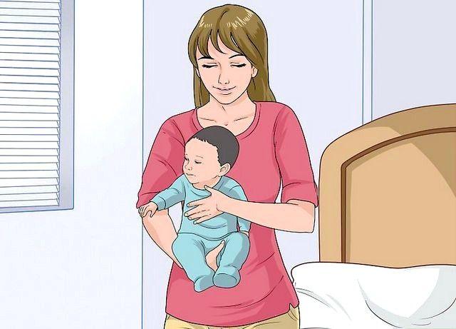 छवि शीर्षक से एक बेबी चरण 9 रखें