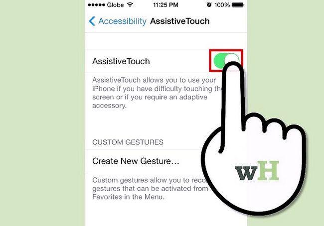 IPhone 4 पर होम बटन जोड़ें शीर्षक वाला छवि