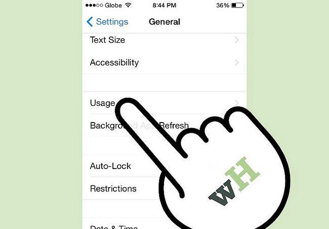 एक iPhone चरण 3 पर बैटरी प्रतिशत प्राप्त करें शीर्षक वाला छवि