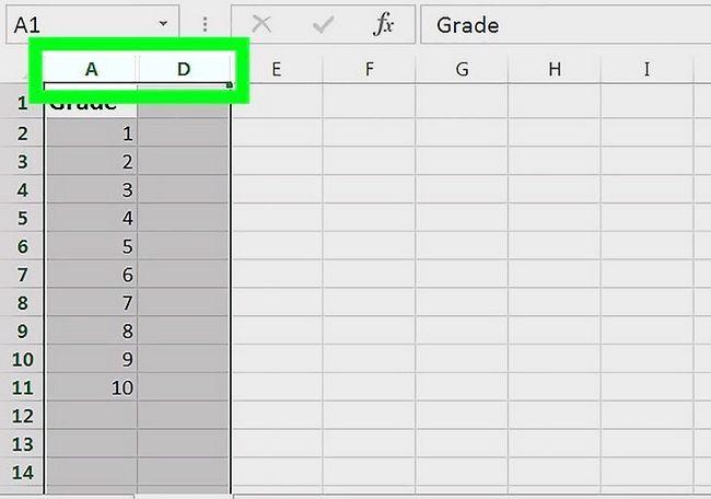 Excel में स्तंभ को दिखाए जाने वाले चित्र चरण 2