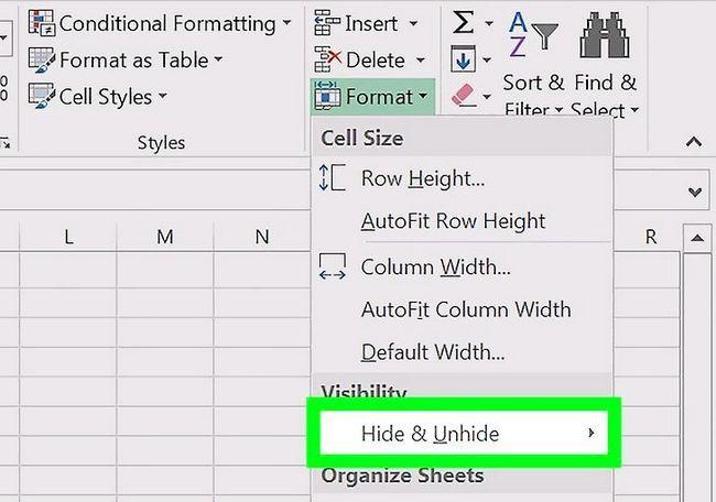 Excel में स्तंभों को दिखाना छवि चरण 5