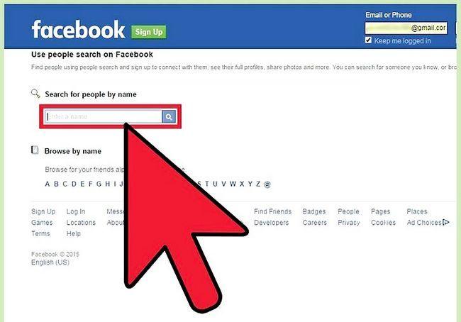एक फेसबुक प्रोफाइल को देखो, जिसका शीर्षक है ऊपर साइन अप के बिना चरण 2