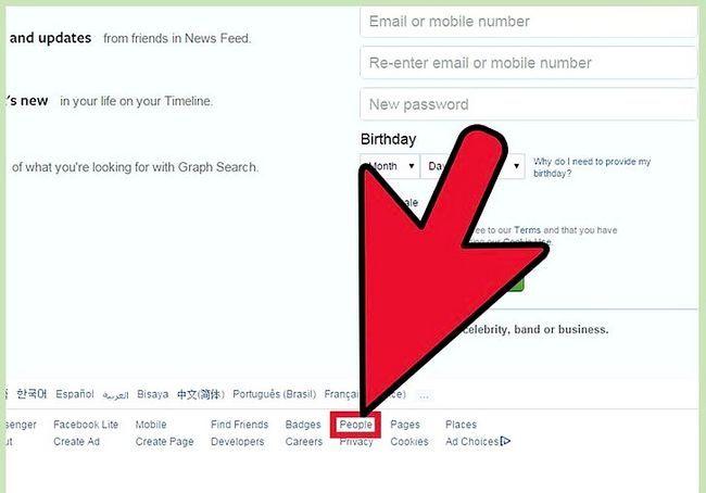 साइनिंग अप के बिना एक फेसबुक प्रोफाइल को देखो शीर्षक छवि 7 कदम