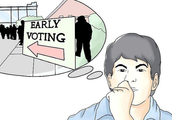 अग्रिम में वोट कैसे करें (संयुक्त राज्य में)